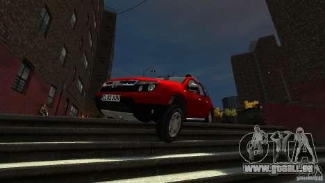 Dacia Duster SUV 4x4 2010 für GTA 4 obere Ansicht