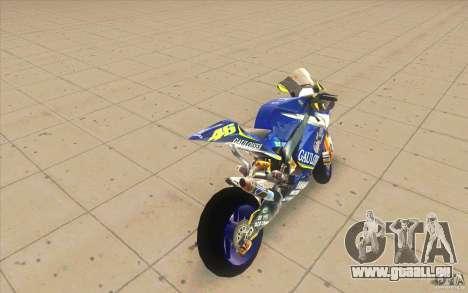 Yamaha M1 Rossi für GTA San Andreas zurück linke Ansicht