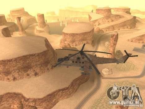 Mi-24p Desert Camo pour GTA San Andreas vue intérieure