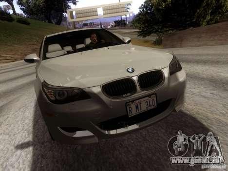 BMW M5 E60 2009 pour GTA San Andreas sur la vue arrière gauche