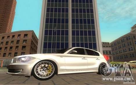 BMW 120i pour GTA San Andreas sur la vue arrière gauche