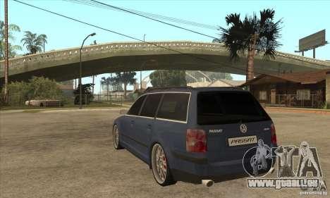 Volkswagen Passat B5.5 2.5TDI 4MOTION für GTA San Andreas zurück linke Ansicht