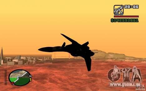 Y-f19 macross Fighter pour GTA San Andreas sur la vue arrière gauche