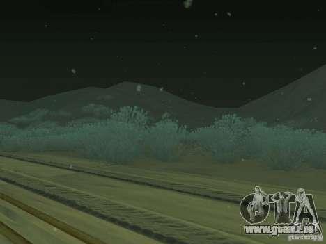 Neige v 2.0 pour GTA San Andreas troisième écran