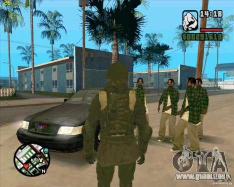 Peau SAS pour GTA San Andreas deuxième écran