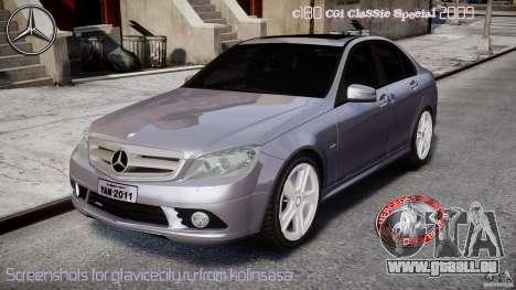 Mercedes-Benz C180 CGi Classic Special 2009 pour GTA 4