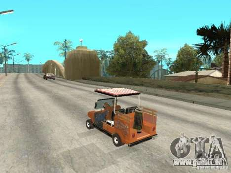 Golfcart caddy für GTA San Andreas linke Ansicht