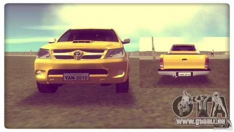 Toyota Hilux SRV 4x4 pour GTA Vice City sur la vue arrière gauche