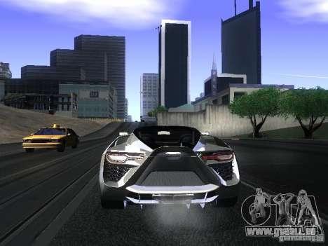 Bertone Mantide pour GTA San Andreas vue arrière