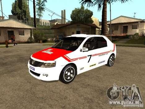 Dacia Logan Rally Dirt für GTA San Andreas obere Ansicht