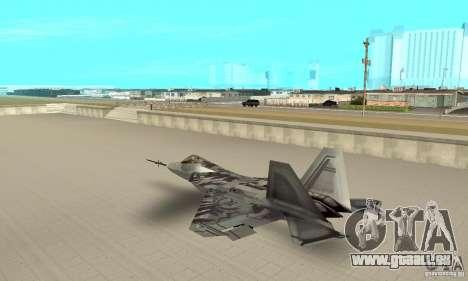 YF-22 Starscream für GTA San Andreas zurück linke Ansicht