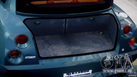 Fiat Coupe 2000 pour GTA 4 vue de dessus