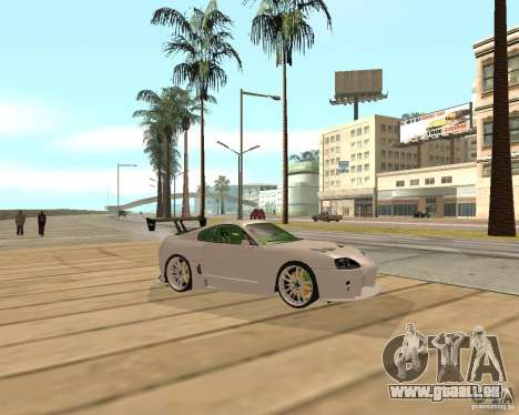 Toyota Supra TwinTurbo pour GTA San Andreas vue de droite