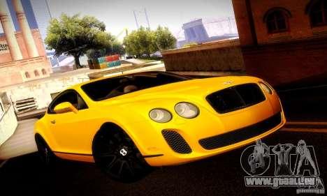 Bentley Continental Supersports pour GTA San Andreas vue de côté