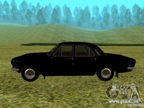 Volga GAZ-24 01 pour GTA San Andreas vue de droite