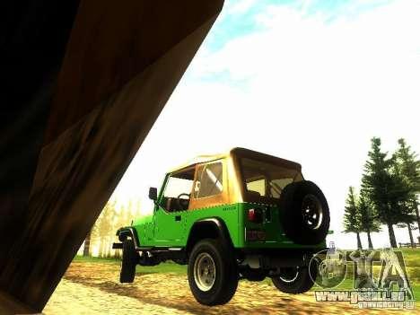 Jeep Wrangler Convertible pour GTA San Andreas sur la vue arrière gauche