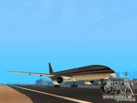 Boeing 777-200 American Airlines pour GTA San Andreas laissé vue