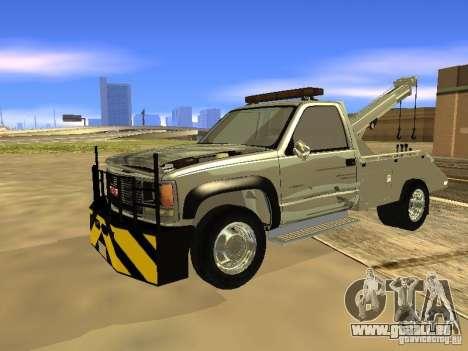 GMC Sierra Tow Truck pour GTA San Andreas laissé vue