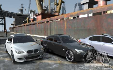 BMW M5 Hamman pour GTA 4 Vue arrière