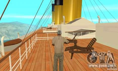 RMS Titanic pour GTA San Andreas vue de côté