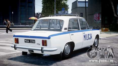 Fiat 125p Polski Milicja für GTA 4 Seitenansicht