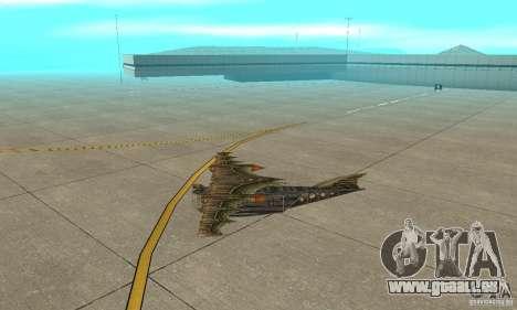 Sehr schönes Flugzeug von TimeShift für GTA San Andreas zurück linke Ansicht