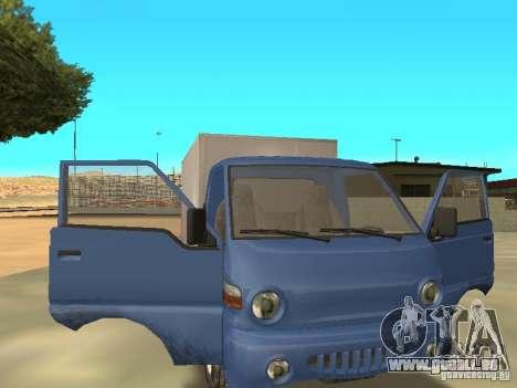 Hyundai Porter für GTA San Andreas Rückansicht
