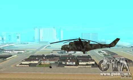 Black Ops Hind pour GTA San Andreas laissé vue