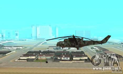 Black Ops Hind für GTA San Andreas linke Ansicht