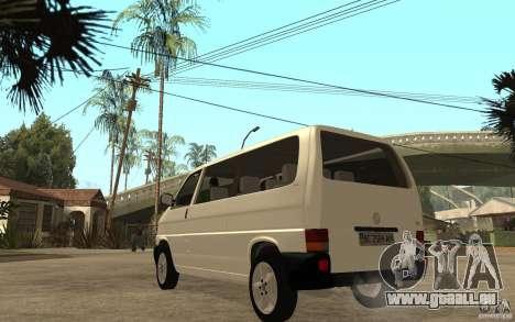 Volkswagen Transporter T4 für GTA San Andreas zurück linke Ansicht