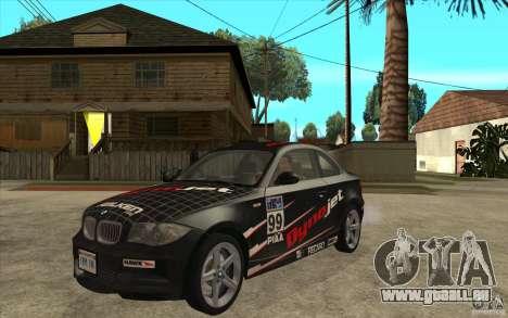BMW 135i Coupe pour GTA San Andreas laissé vue