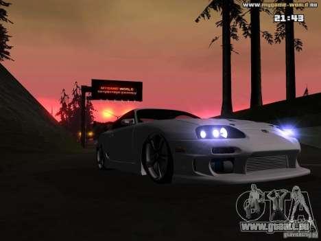 Toyota Supra v2 (MyGame Drift Team) pour GTA San Andreas vue arrière