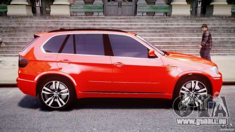 BMW X5M Chrome pour GTA 4 est une gauche