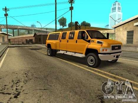 GMC TopKick pour GTA San Andreas vue arrière