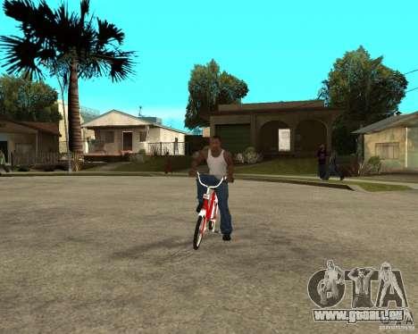 Tair GTA SA moto Moto pour GTA San Andreas vue arrière