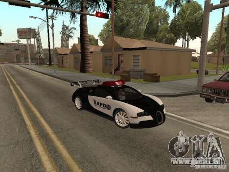 Bugatti Veyron Police pour GTA San Andreas laissé vue