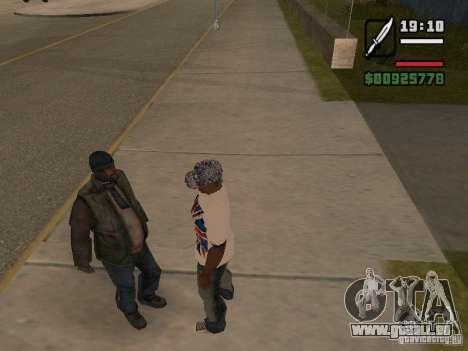 Les sans-abri du donner une petite info pour GTA San Andreas