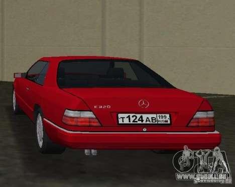 Mercedes-Benz E 320 (C124) pour GTA Vice City sur la vue arrière gauche