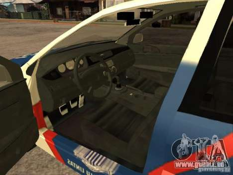 Mitsubishi Lancer Police Indonesia pour GTA San Andreas sur la vue arrière gauche