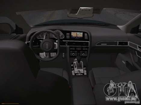 Audi RS6 2009 für GTA San Andreas rechten Ansicht