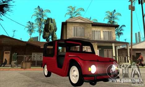 Citroen Mehari für GTA San Andreas Rückansicht