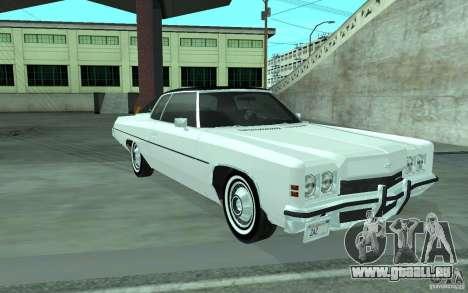 Chevrolet Impala 1972 für GTA San Andreas