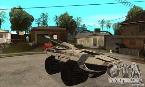 M35 Mako für GTA San Andreas Rückansicht