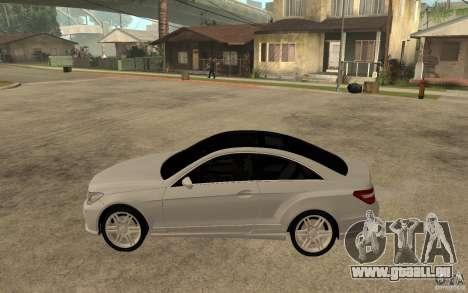 Mercedes Benz E-CLASS Coupe pour GTA San Andreas laissé vue