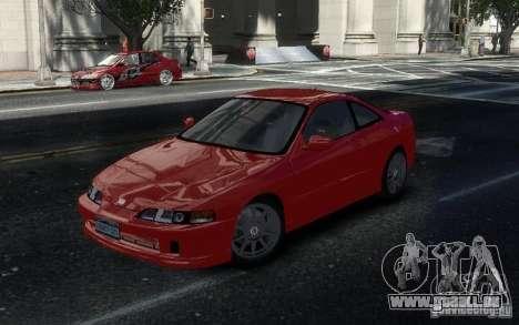 Honda Integra Type R pour GTA 4 est une vue de l'intérieur
