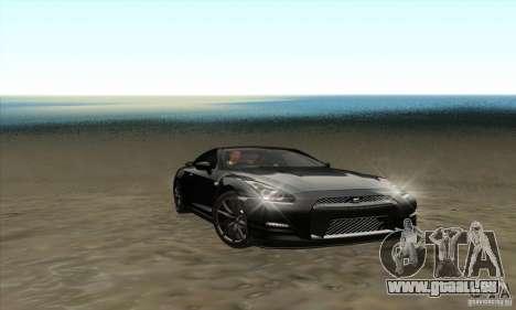 Nissan GT-R R-35 2012 pour GTA San Andreas vue intérieure