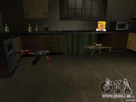 Inländischen Waffen-Version 1.5 für GTA San Andreas dritten Screenshot