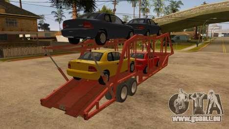 Auflieger-LKW für GTA San Andreas rechten Ansicht