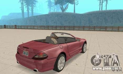 Mercedes-Benz SL500 (R230) pour GTA San Andreas laissé vue