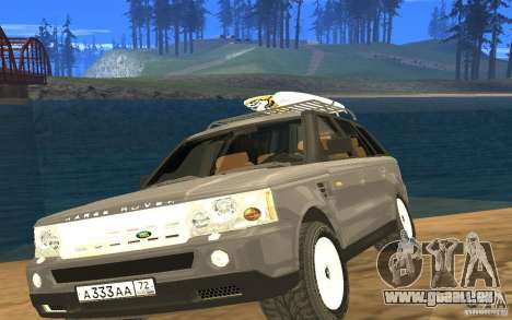 Land Rover Range Rover pour GTA San Andreas vue arrière